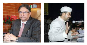 Talat Ahmad (left), Tanweer Alam (right)